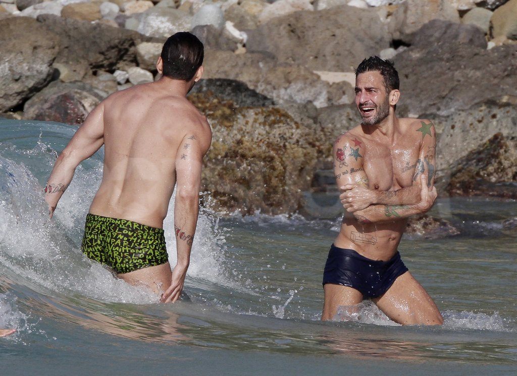 Marc Jacobs played in the waves with Lorenzo Martone.
