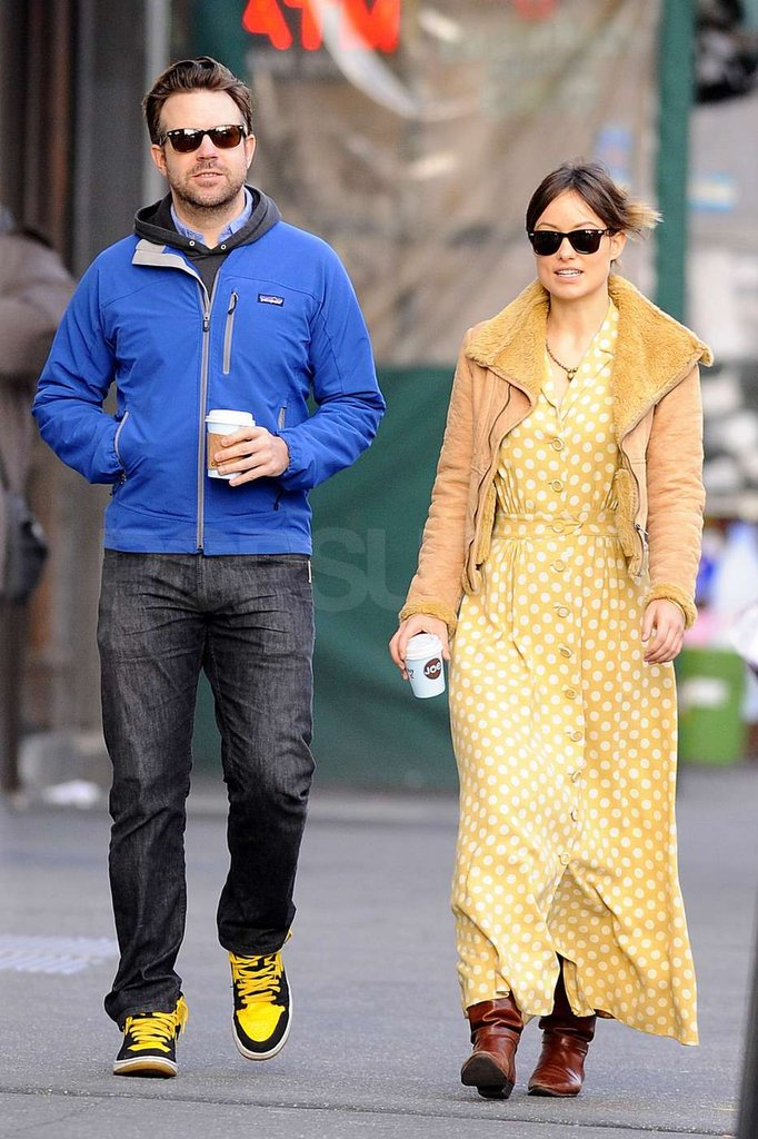 Jason Sudeikis and Olivia Wilde strolled in the city.