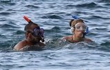 Donald and CaCee snorkeled together in the Pacific Ocean.