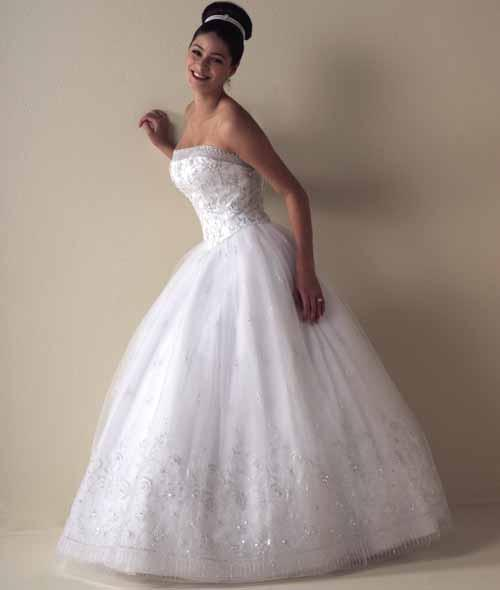 The particular strapless ball gown wedding dresses can be your best