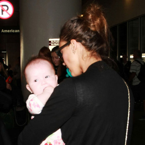 Jessica Alba With Haven at LAX Pictures After Mexico
