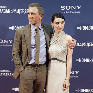 Rooney Mara Dons a Pale Gown While Daniel Craig Walks The Red Carpet with Rachel Weisz in Madrid
