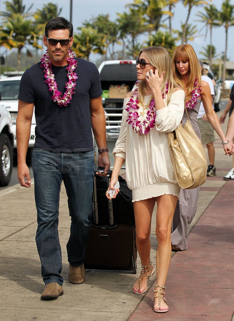 Eddie Cibrian joined LeAnn on the trip to Hawaii.