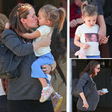 Seraphina Gives Jennifer Garner Kisses and Stylishly Shows Love For Ben Affleck