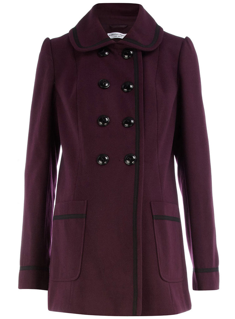 Maternity Purple Dolly Coat ($55)