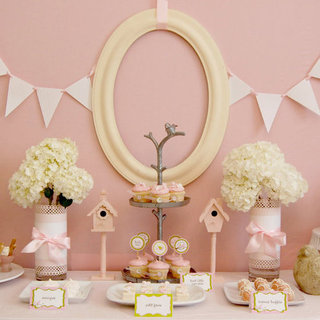 Pink Bird-Themed Baby Shower
