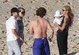 Julianne Hough and Ryan Seacrest run into Rachel Zoe and Rodger Berman on the beach.
