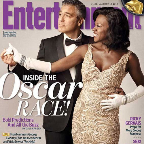 George Clooney and Viola Davis Entertainment Weekly Cover