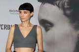 Rooney Mara wore her bangs down for a Girl With the Dragon Tattoo photocall in Berlin.