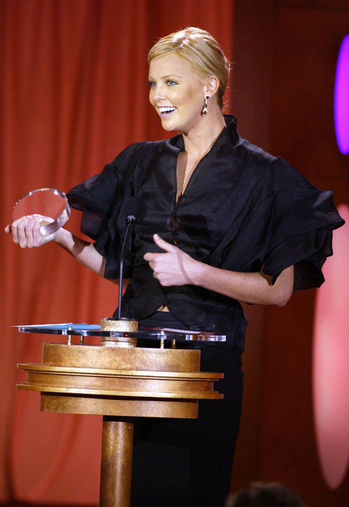 "Charlize Theron's acceptance in 2004, when her face was saying, ""Is this real life?"""