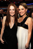 Julianne Moore posed with a pregnant Natalie Portman in 2011.