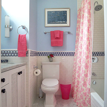 Mediterranean Style Girls Kids Bathroom Decor Ideas