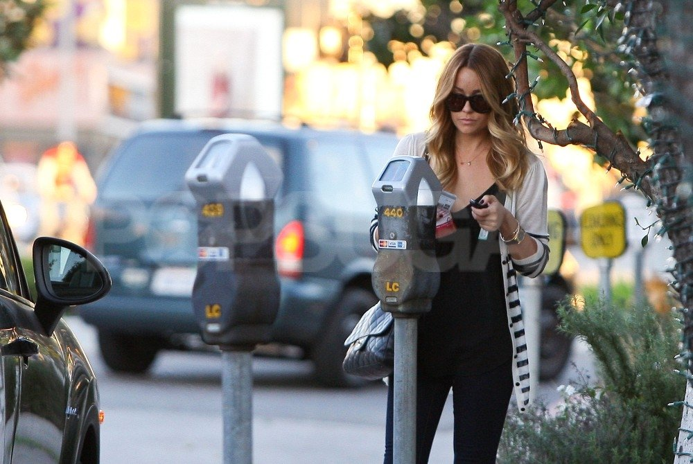 Lauren Conrad fed her meter in LA.