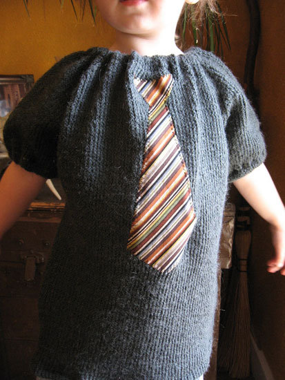 Toddler Tie Sweater