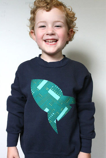 Circuit Board Spaceship Sweater