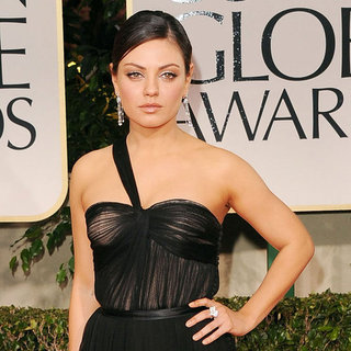 Mila Kunis Dior Dress Pictures at Golden Globes 2012