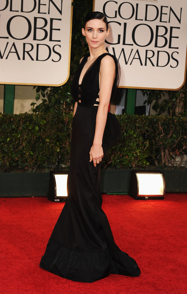 Rooney Mara was in black Nina Ricci for the Golden Globe Awards.