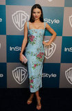 Miranda Kerr hit the red carpet for InStyle's Golden Globes afterparty.