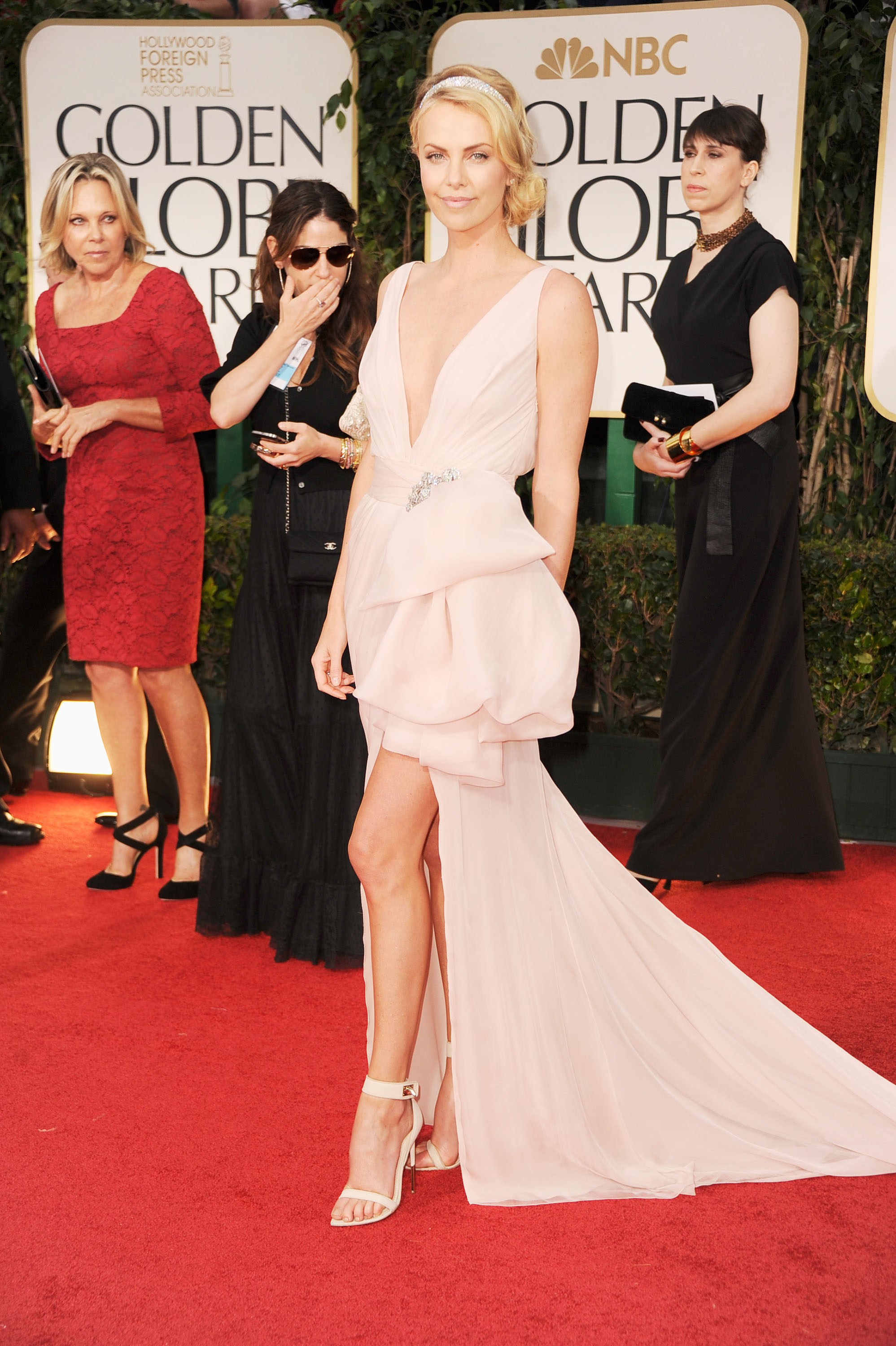 Charlize Theron on the red carpet.