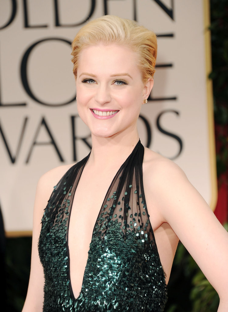 Evan Rachel Wood at the Golden Globes.