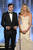 Ashton Kutcher and Elle Macpherson presented at the 2012 Golden Globe Awards.