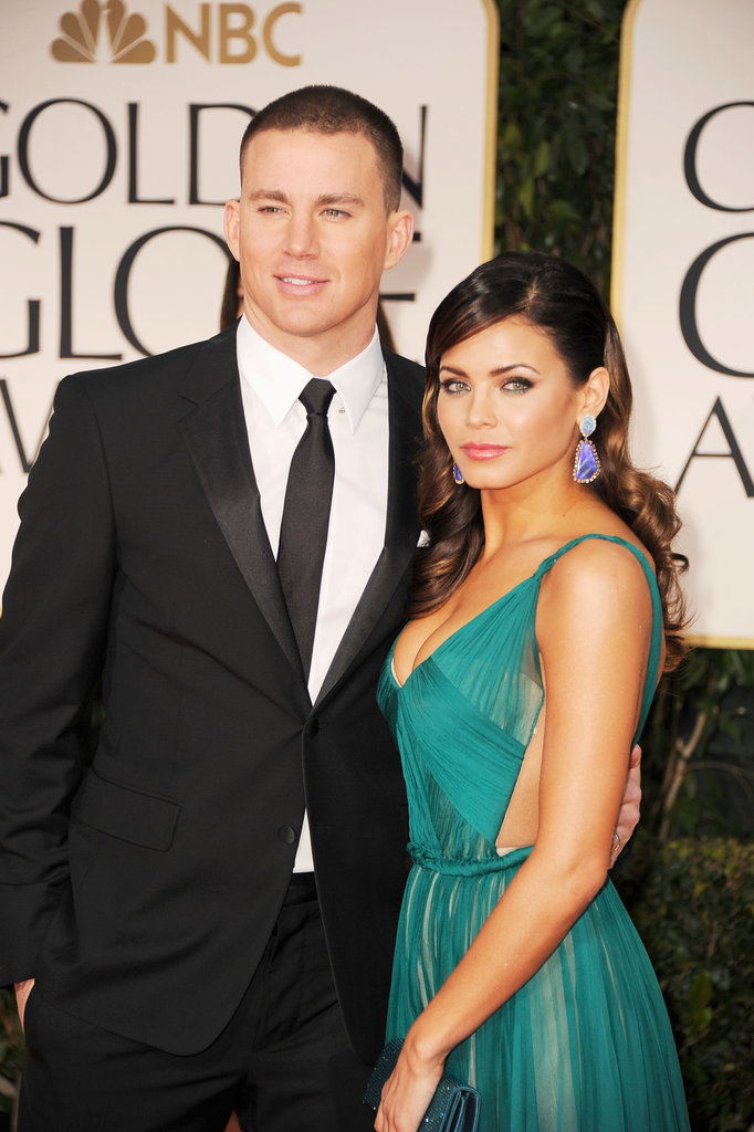 Channing Tatum and Jenna Dewan cuddled up on the red carpet.