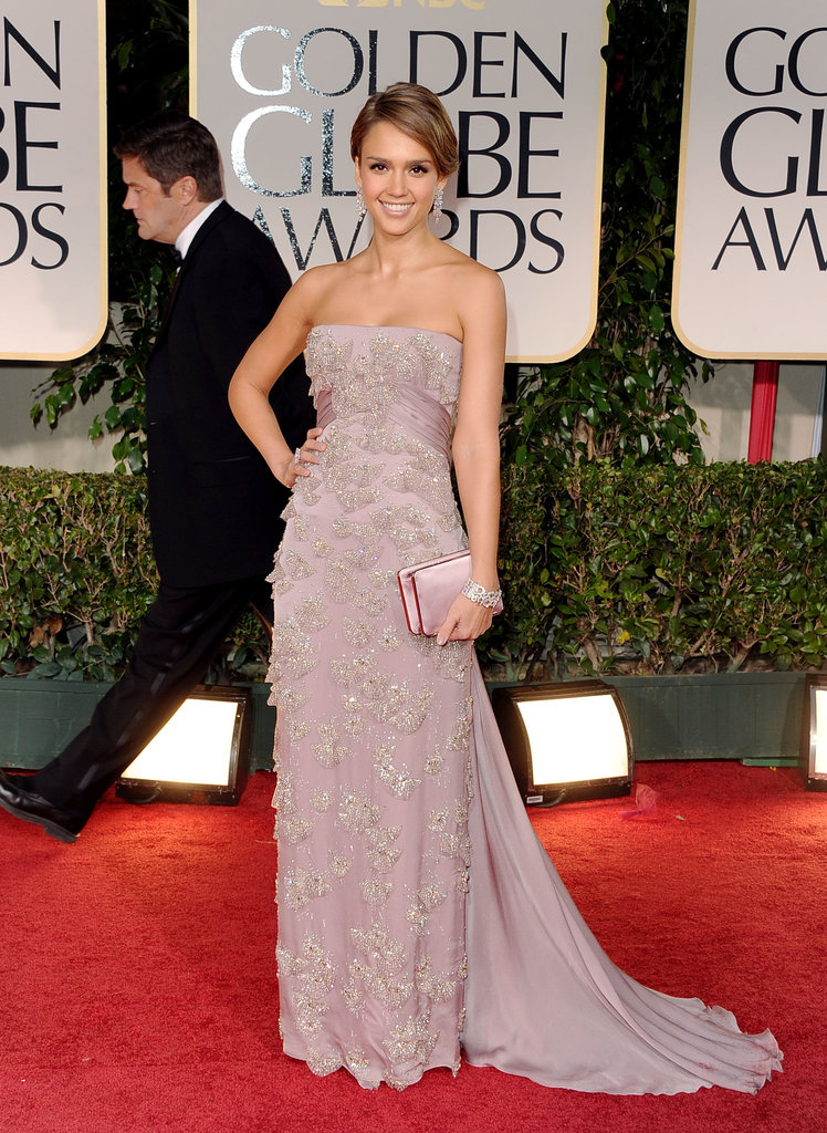 Jessica Alba in Gucci at the Golden Globes.