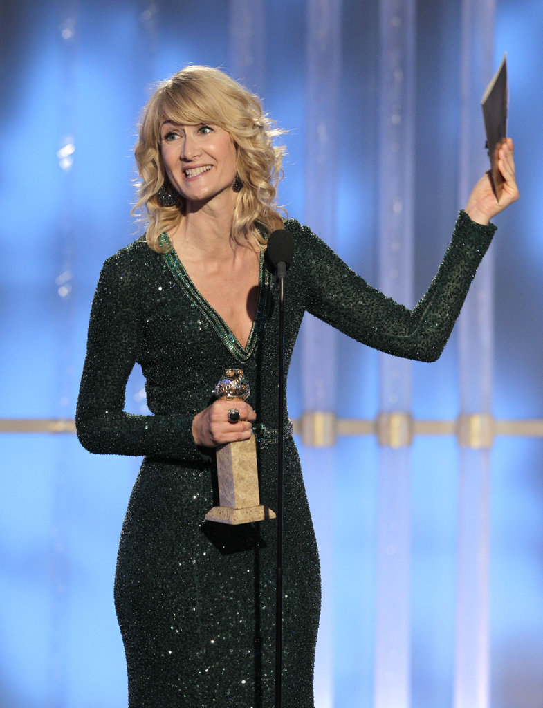 Laura Dern accepted a Golden Globe for her work on Enlightened.