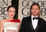 Brad Pitt and Angelina Jolie were shoulder to shoulder at the 2012 Golden Globe Awards.
