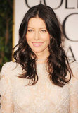 Jessica Biel at the Golden Globes.