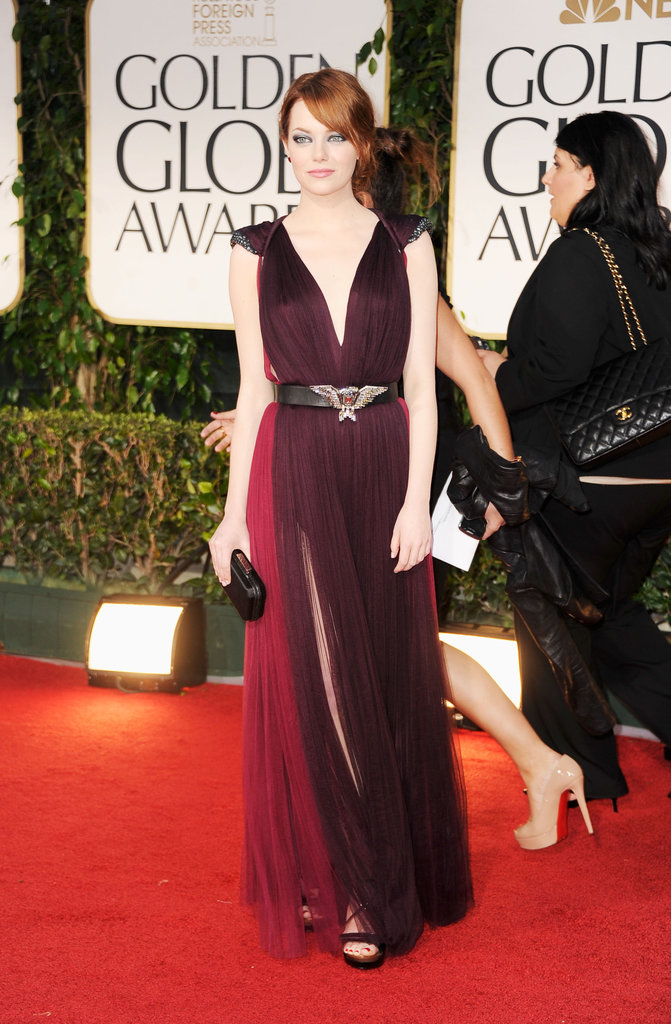 Emma Stone at the Golden Globes.