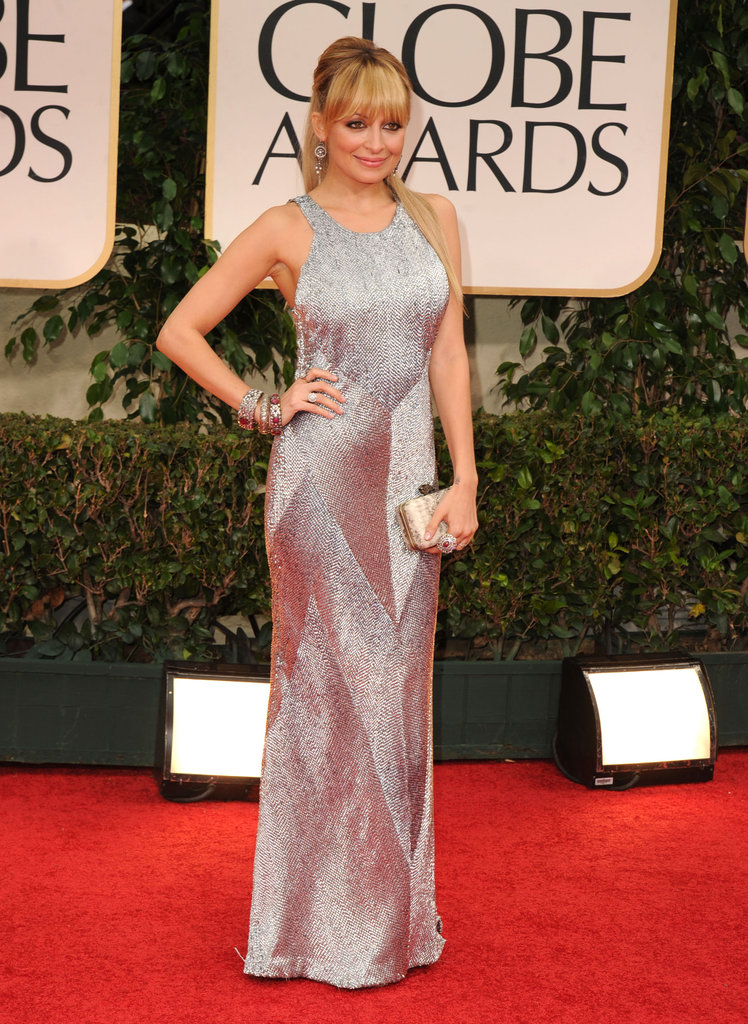 Nicole Richie was shimmering on the red carpet at the Golden Globe Awards.