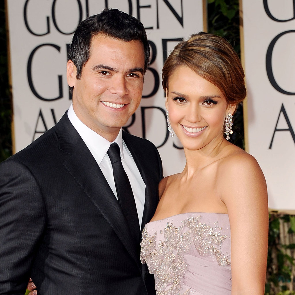 Jessica Alba in Gucci with Cash Warren.