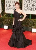 Debra Messing at the Golden Globes.