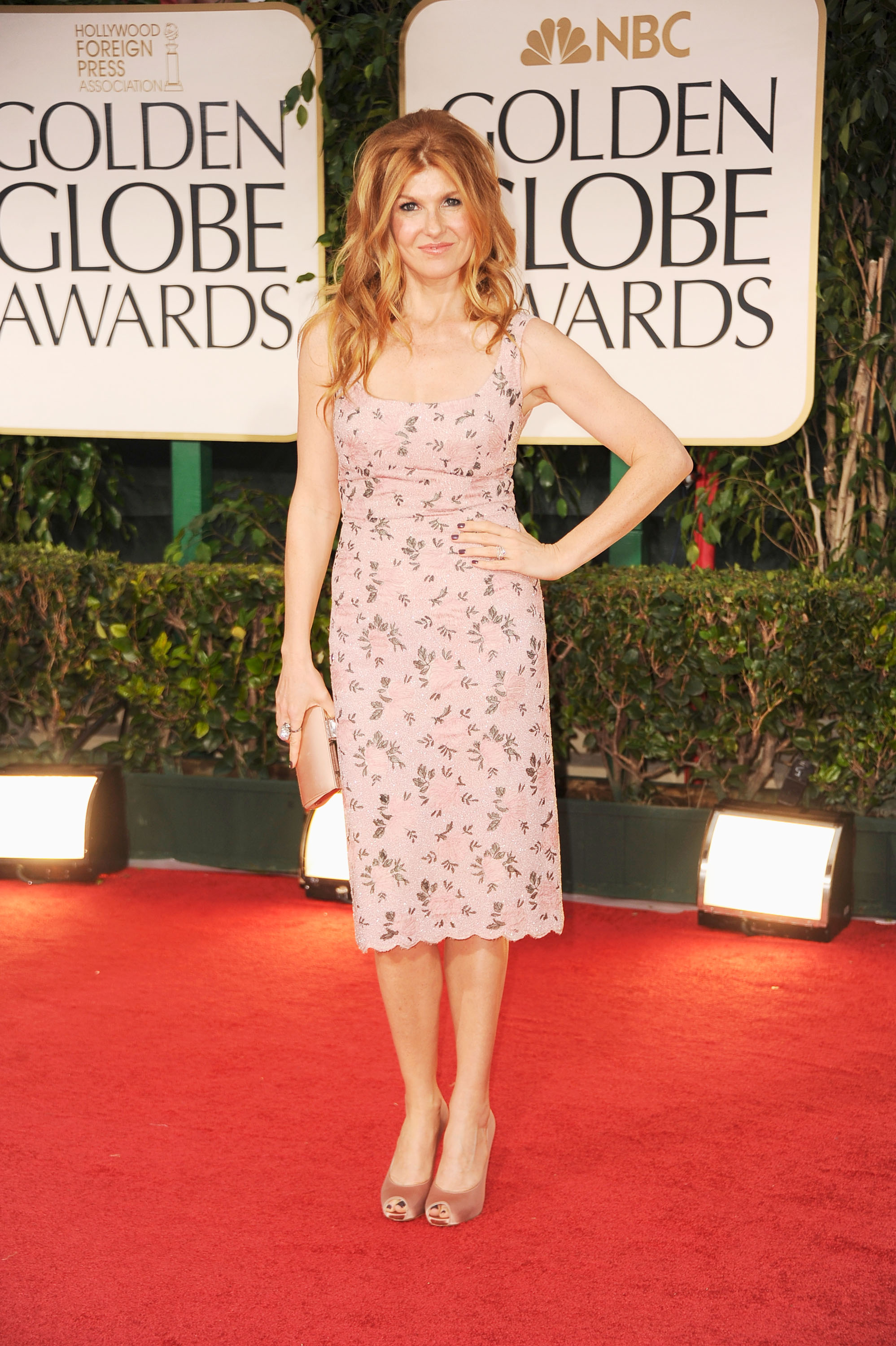 Connie Britton at the Golden Globes.