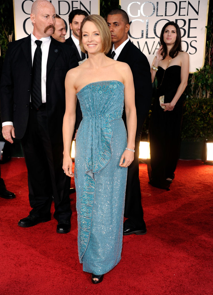Jodie Foster at the Golden Globes.