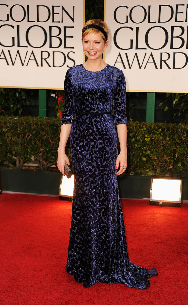 Michelle Williams Goes Blue in Jason Wu For the Globes Red Carpet