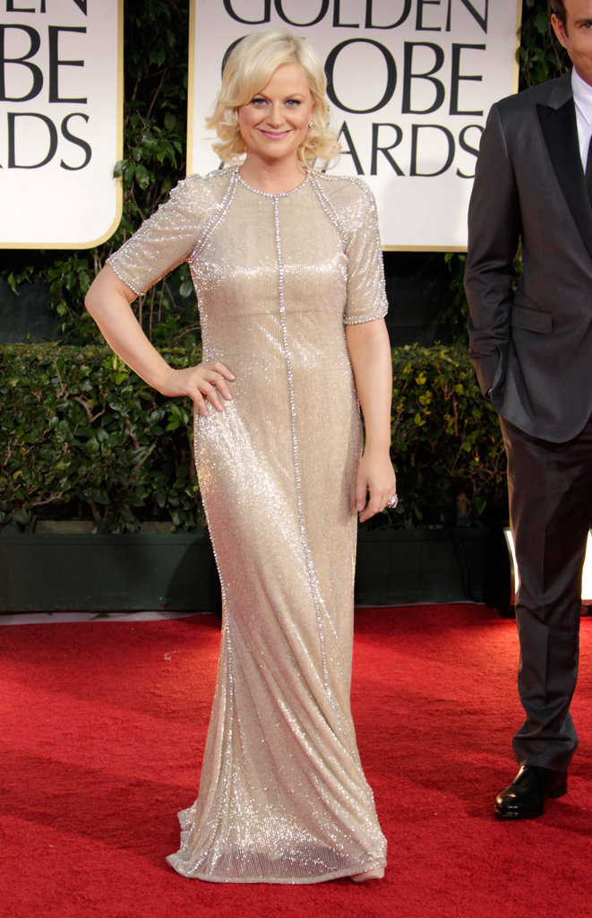Amy Poehler put her hand on her hips.