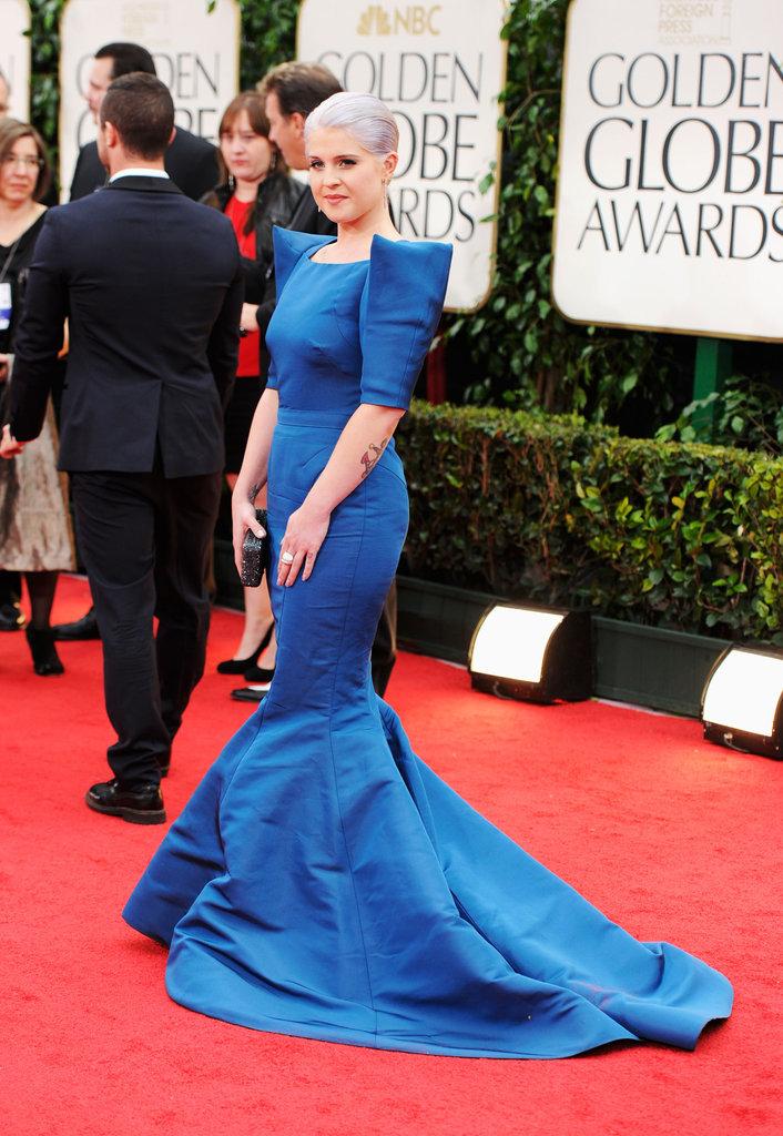 Kelly Osbourne at the Golden Globes.