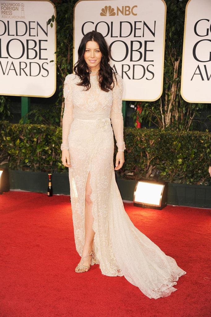 Jessica Biel at the Golden Globes.