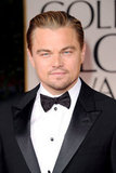 Leonardo DiCaprio was in a bow tie for the 2012 Golden Globe Awards.