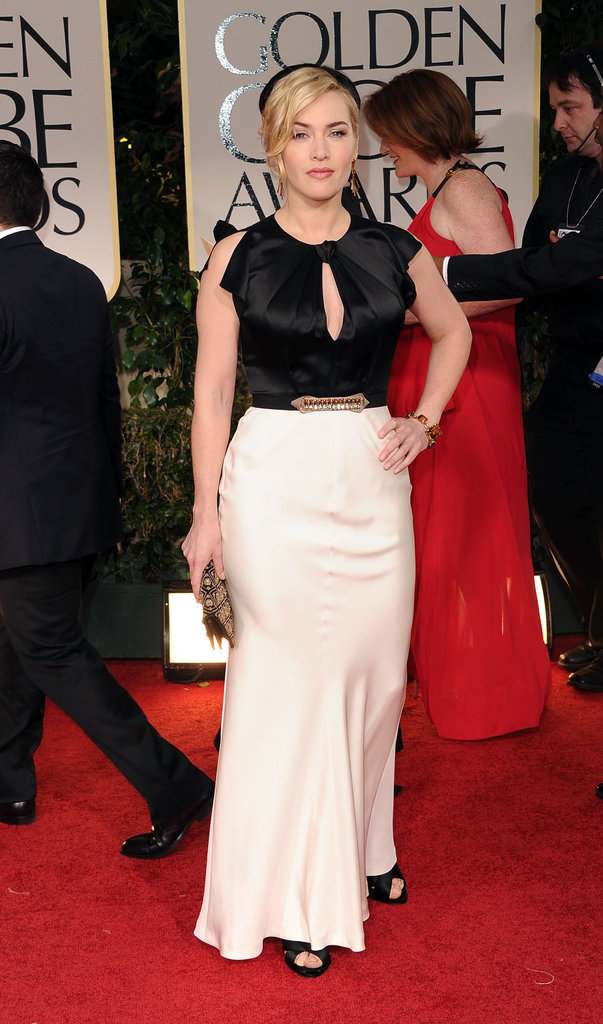 Kate Winslet arrived at the 2012 Golden Globe Awards.