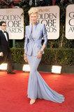 Tilda Swinton at the Golden Globes.