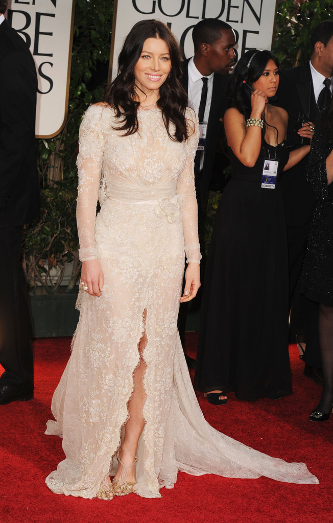 Jessica Biel at the Golden Globe Awards.