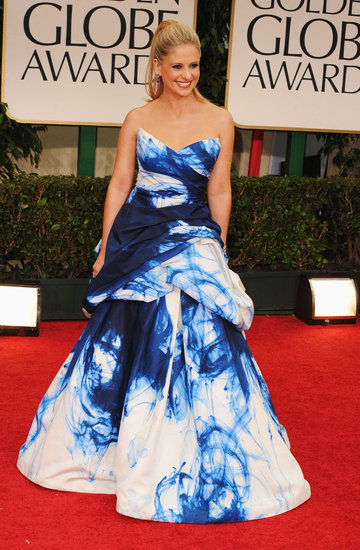 Sarah Michelle Gellar arrived in style to the 2012 Golden Globe Awards.