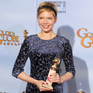 Michelle Williams Golden Globes Press Room (Video)