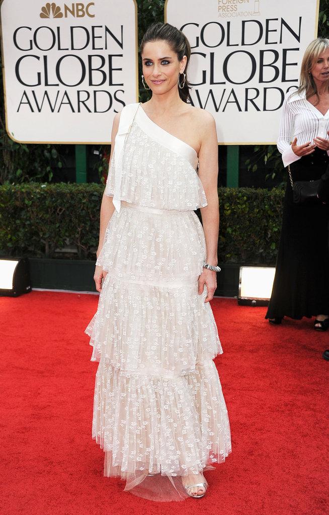 Amanda Peet at the Golden Globes.