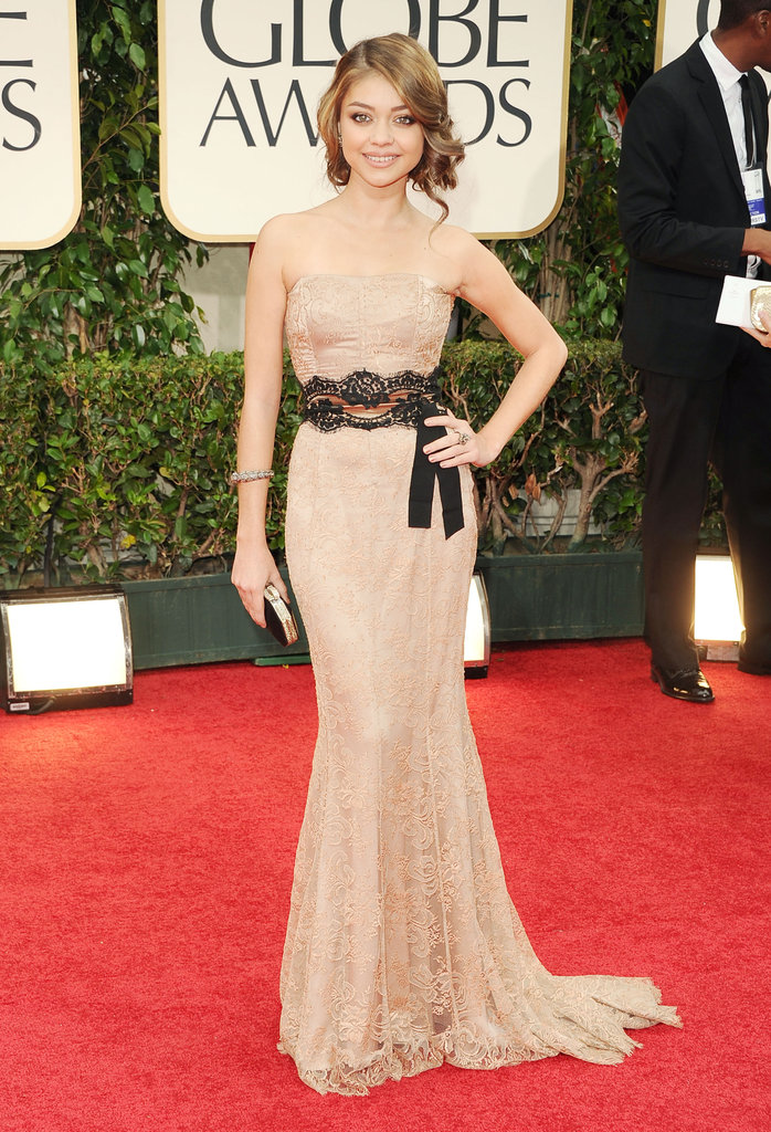 Sarah Hyland at the Golden Globes.