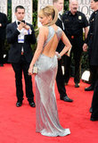 Nicole Richie's backless dress at the Golden Globes.