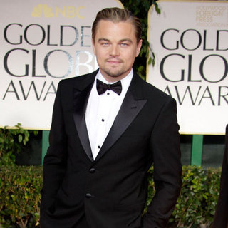 Leonardo DiCaprio Pictures at Golden Globes 2012